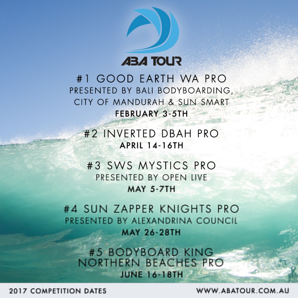 ABA Tour Schedule 2017